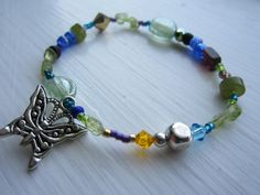 Little Girls Butterfly Bracelet by EvieStarBoutique on Etsy, $4.99