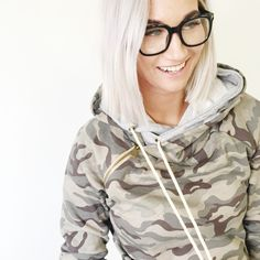 Exclusive Camo Double Hood Side Zipper Hoodie by @ampersandave || Purchase at @mindymaesmarket
