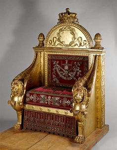 François-Honoré-Georges Jacob-Desmalter  This throne was intended for Napoleon I to sit on during the sessions of the Legislative Body  1805