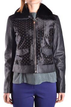 ... Womens Black Biker Leather Jacket