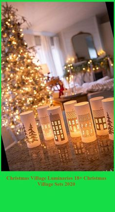A magical set of free printable Christmas house luminaries to create a village that dances and sparkles using only plain computer paper. christmas village sets Christmas Village Luminaries 18+ Christmas Village Sets 2020 Christmas Village Sets, Christmas Tree, Free Christmas Printables, Free Printables, Computer Paper, Sparkles, Table Decorations, Create, Holiday Decor