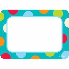 Girl Day 2014 - Dots On Turquoise Name Tags | Discount Office Items