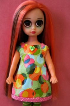 Colorful ALine Dress for Susie Sad Eyes by TickledPinkbyJulie, $12.00