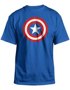 87ae91f20094 Marvel Universe Captain America Shield T-Shirt at Amazon Men's Clothing  store: