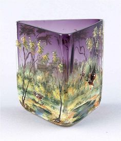 Bohemian Glass Vase by Ludwig Moser & Söhne, Karlsbad.