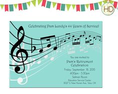 Music Notes Invitations Music Sheet Invitation by HDInvitations
