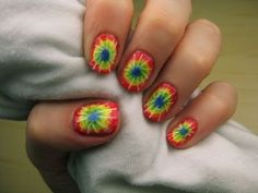 Easy Tie-Dye Nails