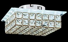 Home Décor Close To Ceiling Lights   New Galaxy Modern LED Crystal Chandelier Flush Mount Ceiling Lighting Fixture 2 light colors in one Smart Lamp 102 -- Clicking on the image will lead you to find similar product