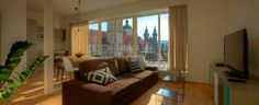 Rybna 9 apartments · living room with a view