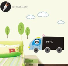 Panda Drives Truck Wall Decal