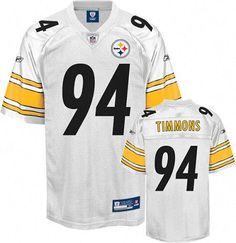 8e02d4c13d8 Reebok Pittsburgh Steelers Lawrence Timmons 94 White Authentic Jerseys Sale  ...