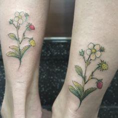 wild strawberries tattoo  ig: @vanessa.core