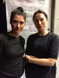 Szkoła Męskiego Stylu miała przyjemność uczestniczyć w największym wydarzeniu modowym w Polsce - Fashion Wee. Na zdjęciu Style coach Agnieszka Świst-Kamińska z projektantką Malgrau