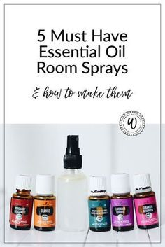 5 Must have essential oil room sprays, and how to make them. Click through for the recipe, or pin to save for later!