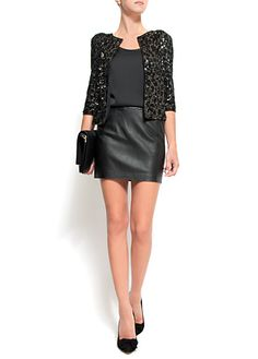Two of my fav things ... sequins and leather