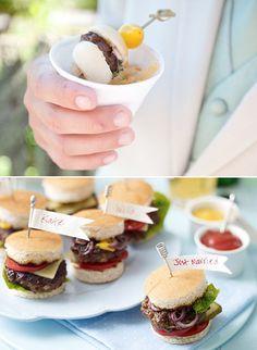 mini wedding food ideas