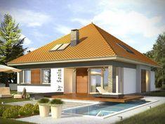 Projekt małego domu nowoczesego do 100m2 - Murano S. | Quattro Domy Outdoor Decor, House, Home Decor, Homemade Home Decor, Home, Haus, Decoration Home, Houses, Interior Decorating