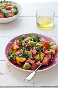 Tartelette: Heirloom Tomato Tarts & Panzanella Salad