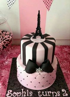 Crystal Eiffel Tower Cake Topper By EverAfterFairytales On Etsy. Paris  Themed ...