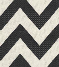 HGTV Home Upholstery Fabric Chevron Chic Onyx, , hi-res -- headboard fabric maybe