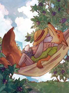 e621 2016 canine disney duo female fox judy_hopps ko-mote lagomorph male mammal nick_wilde rabbit zootopia
