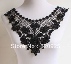 1 pc Black Embroidered Rayon Venise Guipure Lace Bodice Applique Dress Trim-in Lace from Apparel & Accessories on Aliexpress.com | Alibaba Group