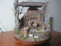 Sculpture Techniques, Aldo, Diorama, Snow Globes, Nativity, Concrete, Portal, Christmas Ideas, Vintage