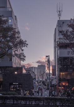 Sunset in Omotesando, Tokyo