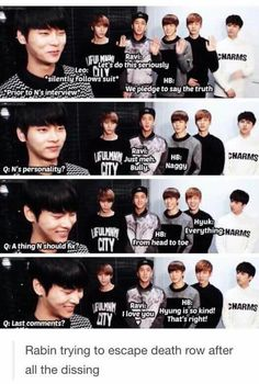 Rabin is in for a neck slicing X) | VIXX