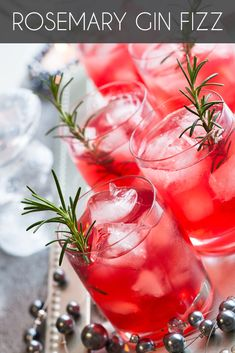 - ¼ cup gin - 1 tbsp fresh lemon juice - 1 tbsp rosemary simple syrup - ⅓ cup club soda Mix, then garnish with a sprig of rosemary! Try a splash of pomegranate liqueur for a colorful twist.