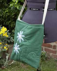 daisy tote bag shoulder bag across body womens by onthebuttonbags, £8.00
