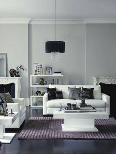 Classic interior design combination of black and white