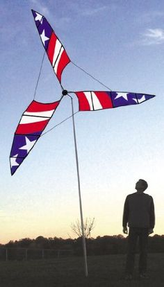 Independence Day (Patriotic) 9.5ft Wind Generator by Premier Kites. $176.00…