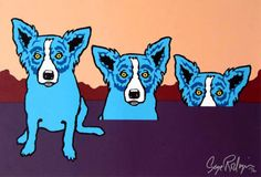 Blues Are Pulling Me Down 1991 Silkscreen on Paper by Blue Dog George Rodrigue From the Edition of 90