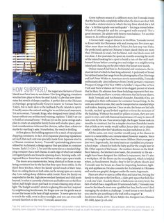 Case study on a shipping container house in Japan featuring Drummonds' bathroom products - drummonds-uk.com, The World of Interiors, October 2015