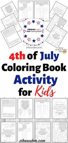 This 4th of July Coloring Book Activity for Kids is a fun way to include God this Independence Day. If you've been looking for Patriotic crafts and activities for kids, this patriotic printable will keep your kiddos busy while you prepare food for your 4th of July celebration. #patrioticprintables #patrioticcrafts #4thofjulyparty #4thofjulyfood