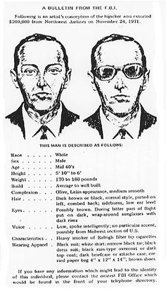 What Do You Think Happened To D.B. Cooper - Did D.B. Cooper survive his jump from the plane back in 1971. What do you think. Click the photo for the full story.