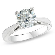 Celebration 102™ 2 CT. Diamond Solitaire Engagement Ring in 18K White Gold (I/SI2)