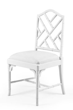 Bamboo Dining Chair I Think I Want To Paint Them Black With A Patent Black  Seat