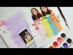 Acuarelas en el scrapbooking - Tips e Ideas ✄ Dulce Scrap