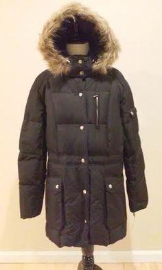 a8b44adba912a NWT Womens XL Ralph Lauren Down Parka Puffer Jacket Coat Faux Fur Hoodie  BLACK #RalphLauren