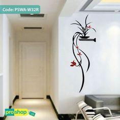 Elegant 3D Acrylic Plants Wall Stickers Creative Porch Decoration Wall Sticker Sofa  Wall Decorative Stickers Height 145cm