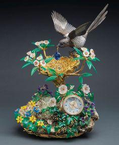 Sotheby's Auction.  Magnificent Patek Philipe Piece 'THE MAGPIE'S TREASURE NEST CLOCK'