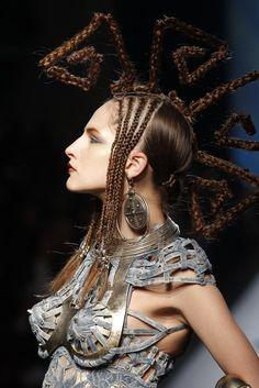 Paris Haute Couture fashion week has closed. The leading world designers presented their vision for Spring-Summer 2010. Pictured: Jean Paul Gaultier Haute Couture fashion show in Paris.