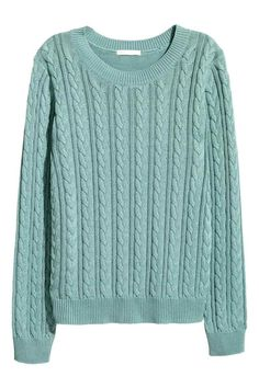 Pullover a trecce: Morbido pullover in maglia a trecce, con maniche lunghe. Schiena lavorata a punto dritto.