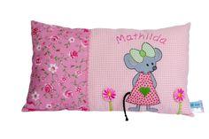 Kissen - Namenskissen Maus für Mädchen - ein Designerstück von BiggisDesign bei DaWanda