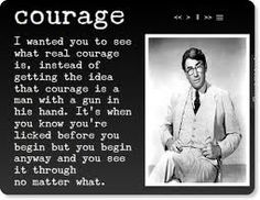 """Stand Up Scout, That's your Father Passing"" ~ Atticus represents the best we can be ~ To Kill A Mockingbird"