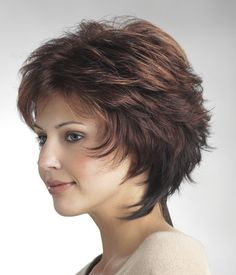 """Tawney is a short layered wig by Tony of Beverly Length: Bang 3 1/2"""", Nape 4"""" Cap Size: Average #wigs #hairwigs #wigscanada #wigstoronto #syntheticwig"""