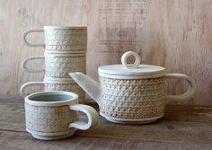 Popular items for stoneware tea set on Etsy