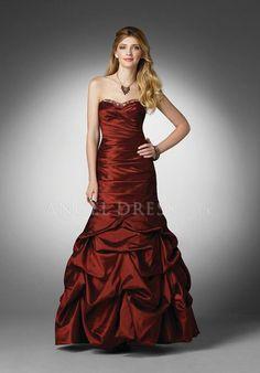 Mermaid Sweetheart Taffeta Floor Length Dropped Sleeveless Prom Dress With Pick ups